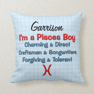 Baby Boy Pisces Zodiac Personalized Pillow Cushions