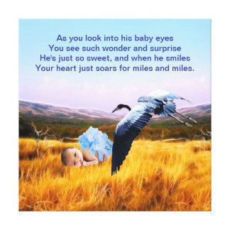 Baby Boy poem Canvas Prints