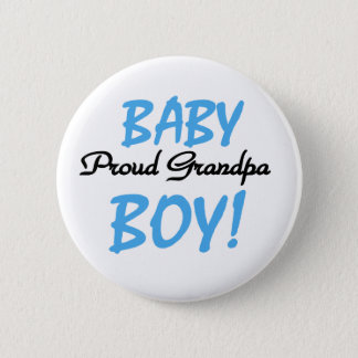 Baby Boy Proud Grandpa 6 Cm Round Badge
