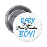 Baby Boy Proud Great Grandpa Pins