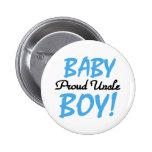 Baby Boy Proud Uncle 6 Cm Round Badge
