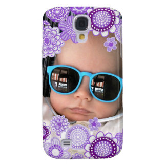 Baby Boy Purple Painted Fine Art Photo Frame Galaxy S4 Cover