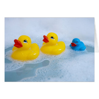 Baby Boy Rubber Duck Card