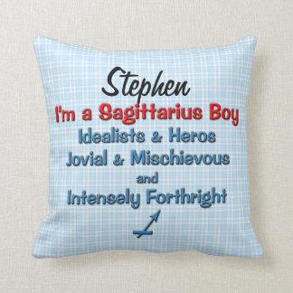 Baby Boy Sagittarius Zodiac Personalized Pillow Throw Cushion