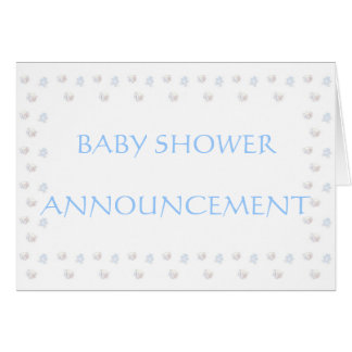baby boy shower announcement greeting card