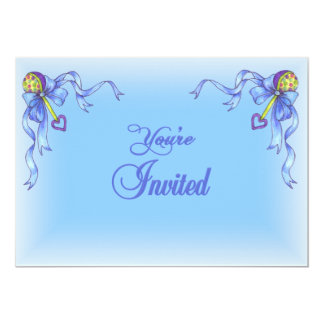 "Baby Boy Shower Invitation 5"" X 7"" Invitation Card"