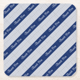 Baby Boy Shower Stork Blue Favors Party Supplies Square Paper Coaster