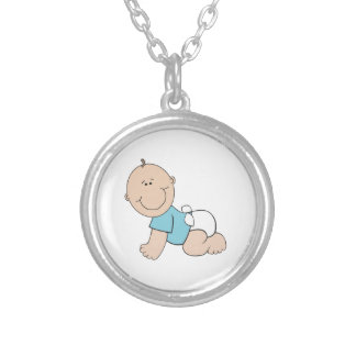 Baby Boy Silver Plated Necklace