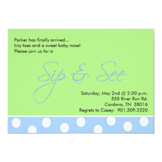 Baby Boy Sip and See Invitations