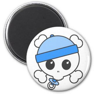Baby Boy Skully Magnet