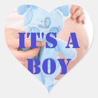 Baby Boy Heart Sticker