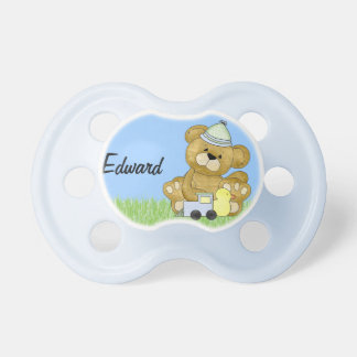 Baby Boy Teddy Bear to Personalise Pacifier