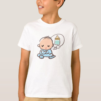 Baby boy thinking milk time T-Shirt