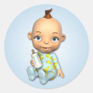 Baby Boy Toon Sticker