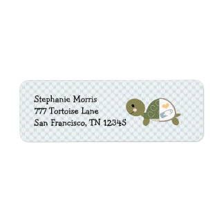 Baby Boy Turtle Return Address Labels Custom