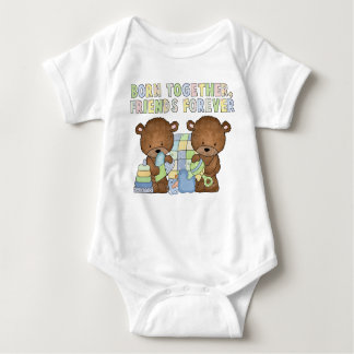 Baby Boy twins Friends forever bodysuit