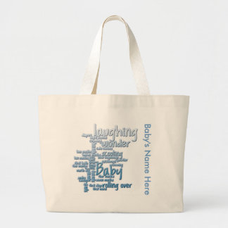 Baby Boy Word Art Diaper Bag