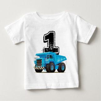 Baby Boy's 1st Birthday Blue Truck Baby T-Shirt