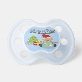 Baby Boy's 1st Christmas Pacifier
