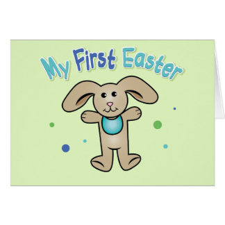 Baby Boy's First Easter Greeting Card