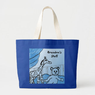 Baby Boy's Room Blue Personalized Tote Bag