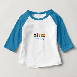 """Baby Boys T-Shirt - """"I Love to Sing"""" Image"""