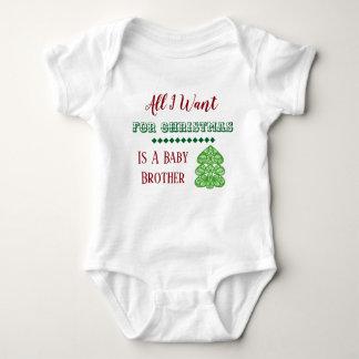 Baby Brother Christmas Vest Baby Bodysuit