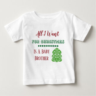 Baby Brother Christmas Vest Baby T-Shirt