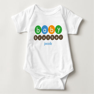 Baby Brother Dots Personalized Baby Bodysuit