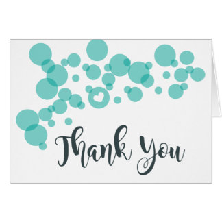 Baby Bubbles Thank You Teal Card