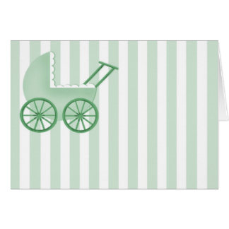Baby Buggy Card (Green)