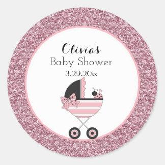 Baby Buggy Ladybug Classic Round Sticker
