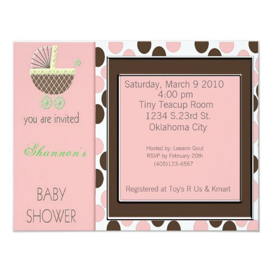 Baby Buggy Shower Inviations Card