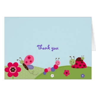 Baby Bugs Ladybug Butterfly Thank You Note Cards