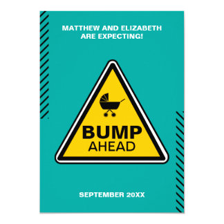 Baby Bump Caution Sign Pregnancy Announcement