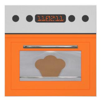 Baby Bun Recipe Invitation orange one