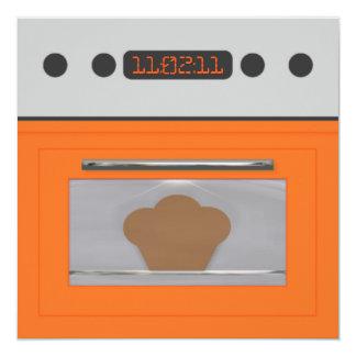 Baby Bun Recipe Invitation(orange one) 13 Cm X 13 Cm Square Invitation Card