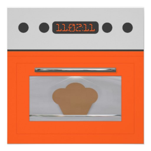 Baby Bun Recipe Invitation(orange three)