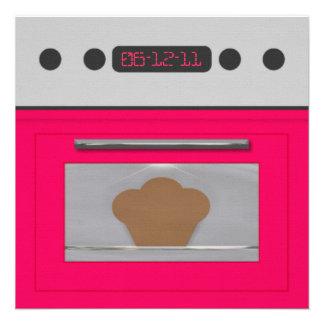 Baby Bun Recipe Invitation pink