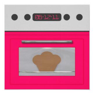 Baby Bun Recipe Invitation(pink) 13 Cm X 13 Cm Square Invitation Card