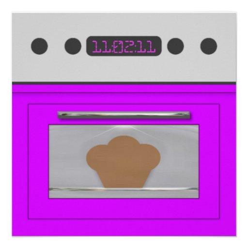 Baby Bun Recipe Invitation(purple)