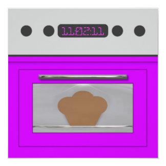 Baby Bun Recipe Invitation(purple) 13 Cm X 13 Cm Square Invitation Card