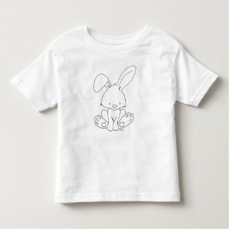 Baby Bunny, Color It Yourself Woodland baby animal Toddler T-Shirt