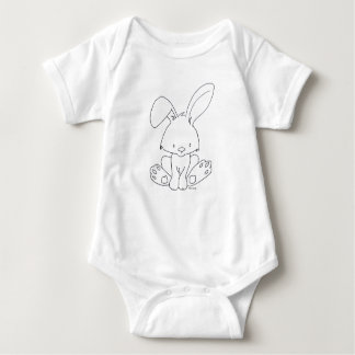 Baby Bunny, Colorize It Yourself, DIY for children Baby Bodysuit