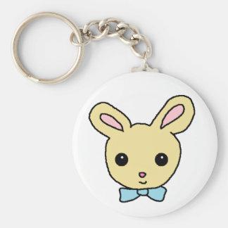Baby Bunny Basic Round Button Key Ring