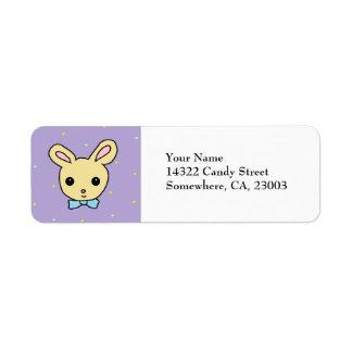 Baby Bunny Purple Return Address Label