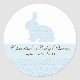 Baby Bunny Rabbit Baby Shower Sticker