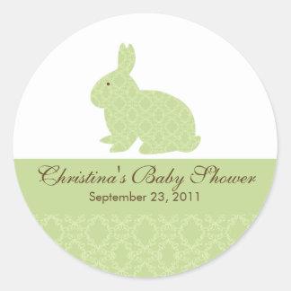 Baby Bunny Rabbit Baby Shower Sticker Neutral