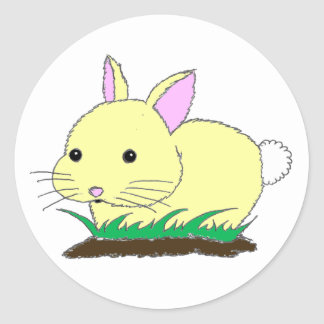 Baby Bunny Rabbit Round Sticker