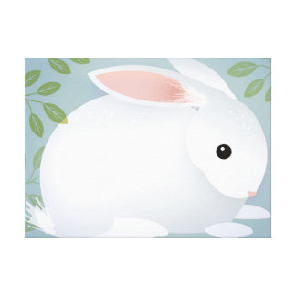 Baby Bunny Stretched Canvas Print